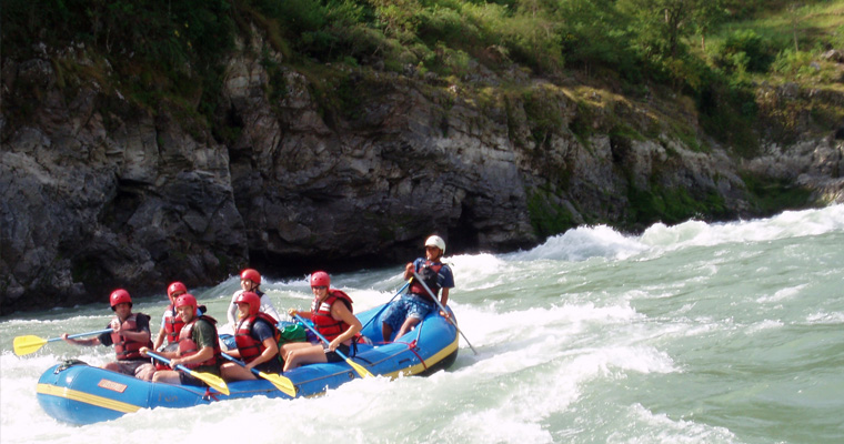 rafting in sunkoshi